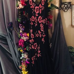 Pink and black formal